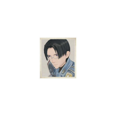 Mica's portrait in <i>Valkyria Chronicles</i>.