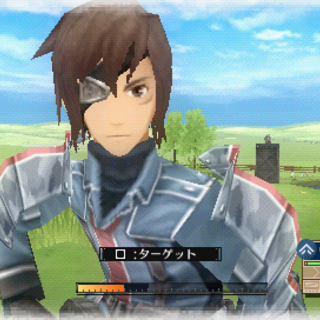 In-game screenshot of Vyse in <i>Valkyria Chronicles 3</i>.