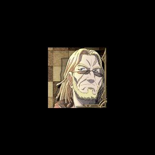 Cedric's portrait in <i>Valkyria Chronicles 3</i>.