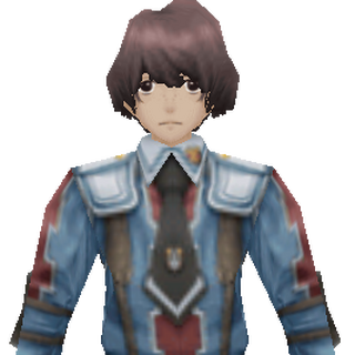 Nichol's CG appearance in Valkyria Chronicles 2.