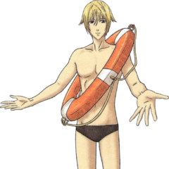Randy's swimsuit in <i>Valkyria Chronicles 2</i>.