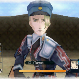 In-game screenshot of Helmut in Valkyria Chronicles 2.