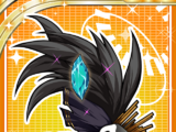 Black Feathered Hairpin