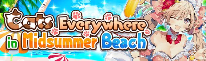 Banner Cats Everywhere in Midsummer Beach