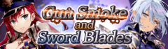 Banner Gun Smoke and Sword Blades