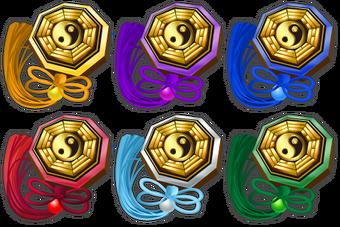 Eight Trigram Charm Set