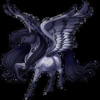 Blue Roan Alicorn