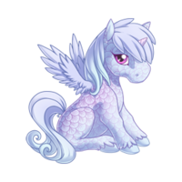 Ice Spirit Alicorn Baby