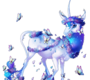 Blue Butterfly Heraldic Unicorn