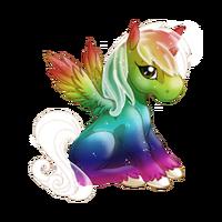 Rainbow Heaven Alicorn Baby