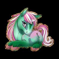 Sparkling Pistachio Unicorn Baby