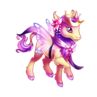Baby Fairy Princess Heraldic Unicorn Baby