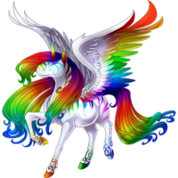 Striking Rainbow Alicorn White