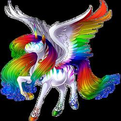 image striking rainbow alicorn white png valley of unicorns wiki