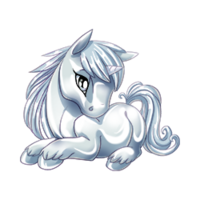 Liquid Silver Unicorn Baby