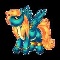 Brightest Blue Pegasus Baby