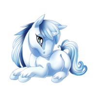 Frost Blue Unicorn Baby