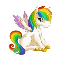 Rainbow Alicorn Baby