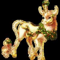 Gold and Candlelight Heraldic Unicorn