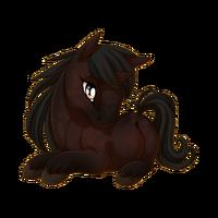 Dark Bay Unicorn Baby