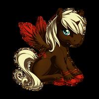 Raspberry Chocolate Swirl Alicorn Baby
