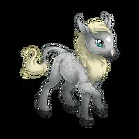 Silver Dapple Heraldic Unicorn Baby
