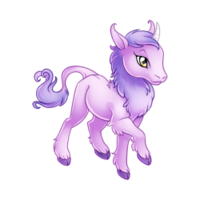 Lilac Heraldic Unicorn Baby