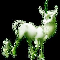 Ghost of a Rose Heraldic Unicorn