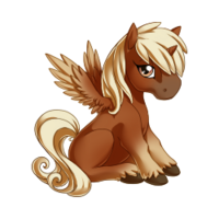 Flaxen Chestnut Alicorn Baby