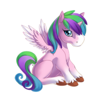 Soft Gaze Alicorn Baby