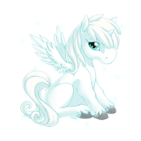 Blizzard Alicorn Baby
