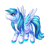 Fierce Blue Pegasus Baby