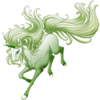 Ghost of a Rose Unicorn