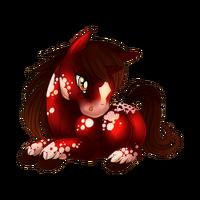 Cranberry Velvet Unicorn Baby