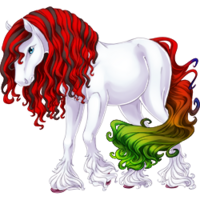 White Anniversary 2017 Paaefarin Colored Hooves