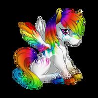 Striking Rainbow Alicorn Baby White