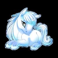 Ice Blue Unicorn Baby