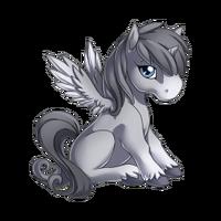 Silver Alicorn Baby