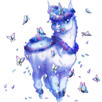 Blue Butterfly Fakiecorn