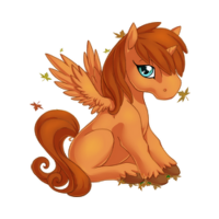 Autumn Afterglow Alicorn Baby