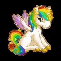 Celestial Rainbow Alicorn Baby