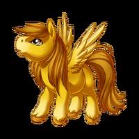 Gold Pegasus Baby