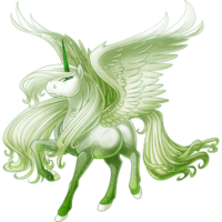 Ghost of a Rose Alicorn
