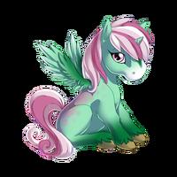 Sparkling Pistachio Alicorn Baby