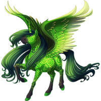 Fancy Green Wrapping Paper Alicorn