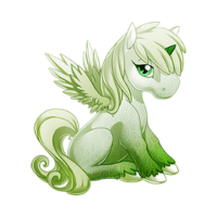 Ghost of a Rose Alicorn Baby