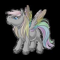 Dusty Rainbow Pegasus Baby