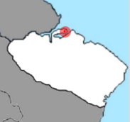 Karlostadon sijainti