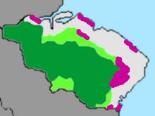 Gualadorin kasvillisuusalueet