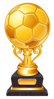 Gold Football Award Trophy Transparent PNG Clipart